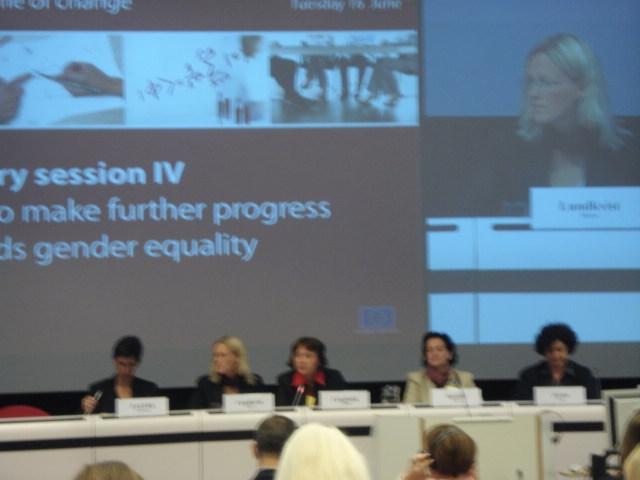 Conferência Equality between women and men in a time of change, conferência de follow-up do Roteiro para a Igualdade entre Mulheres e Homens, Comissão Europeia, Bruxelas