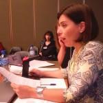 Marta Costa da EOS, Associação de Estudos, Cooperação e Desenvolvimento, delegada da PpDM à 62ª Sessão CEDAW