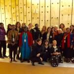 Activistas pelos Direitos das Mulheres da Rússia, da Libéria, da Eslovénia e de Portugal com membros da IWRAW
