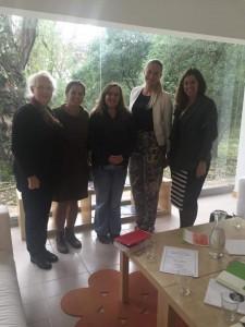 Da esquerda para a direita: Margarida Medina Martins, Vera Fonseca, Ana Sofia Fernandes, Ingel Hirv e Alexandra Silva