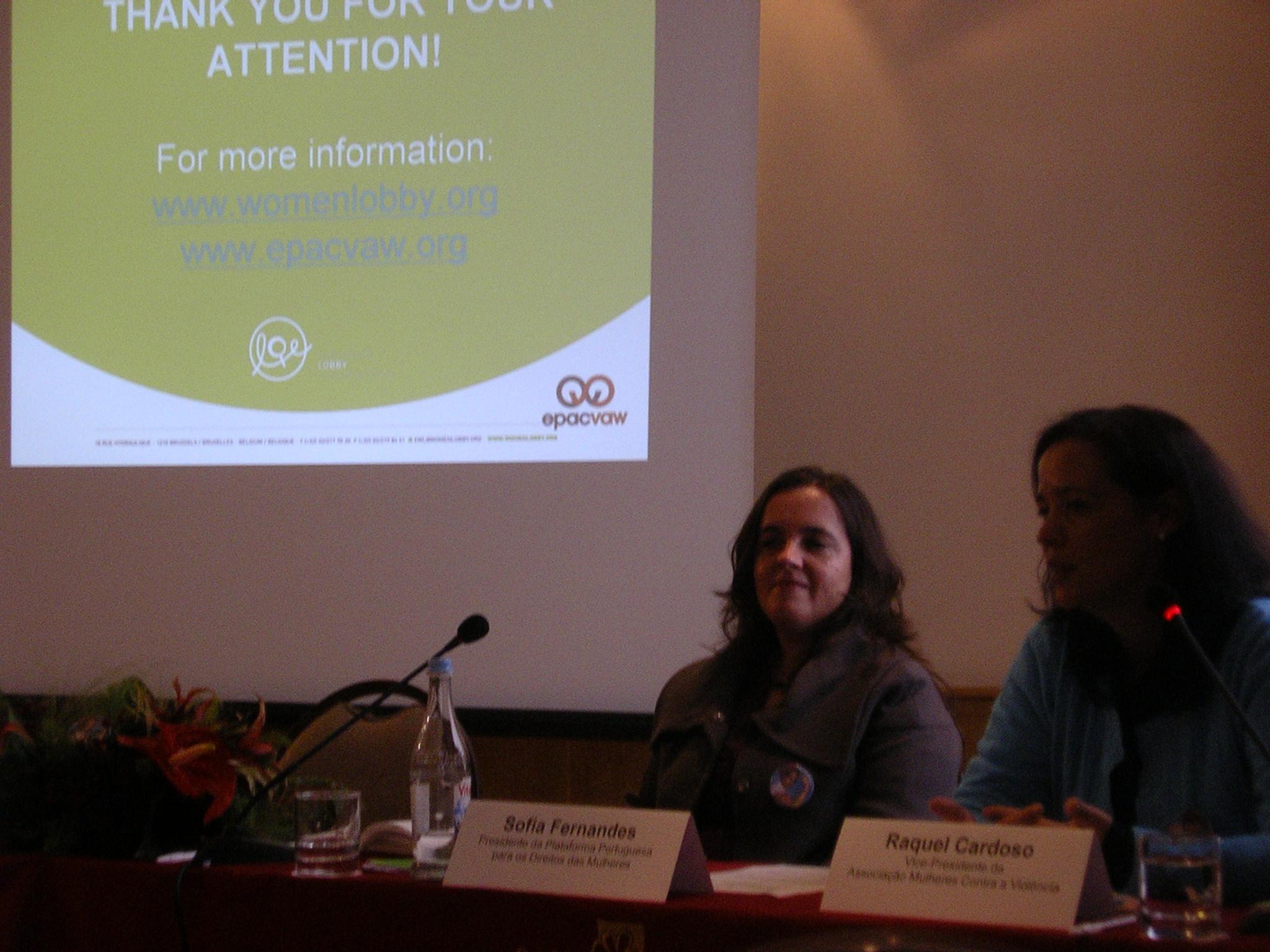 Lançamento do Ramo Nacional do Observatório sobre Violência Contra as Mulheres do Lobby Europeu das Mulheres